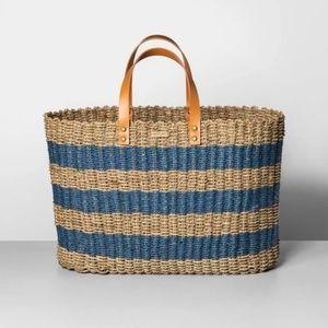 NWT Hearth & Hand Seagrass Summer Tote Beach Bag